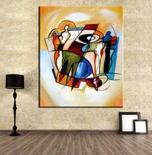 YELLOW CUBIC ABSTRACT Oil Painting Canvas Prints Wall Painting For Living Room Decorations wall picture art