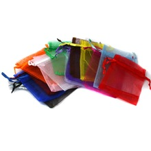 10pcs/bag Selection 15 Colors Jewelry packaging Drawable Organza Bags 7x9cm,Gift Bags & Pouches,Packing bags