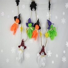 1pcs HOT Ghosts Garland Halloween Bunting Decorations Halloween Ghosts Wall Hanging Home Decor Novelty Toys Practical Jokes(China)