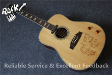 Excellent Feedback John Lennon J160E Aoustic Guitar Top Drawing China OEM Guitars In Stock For Sale
