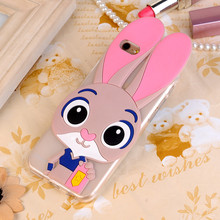3D Rabbit Teddy Bear Soft Silicone Case Meizu M3 Mini Meizu M3S Mini 5.0 Phone Cover Cartoon Minnie Mouse Funda Fashion Capa