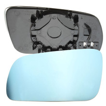 Left Side Car Door Heated Electric Wing Mirror Glass Blue For VW /Golf MK4 96 - 04 Clip On Convex Right Hand Driver
