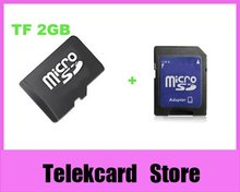 {wholesale 20pcs/lot}OEM 2gb micro sd card,tf card,mobile memory card with real capacity+free shipping + free adapters(China)
