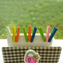 Hot Selling 20pcs Colored Mini Spring Wood Clips Clothes Photo Paper Peg Pin Clothespin Craft Clips Party Decoration