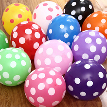 Brand New hot 12'' Retro Polka Dot Latex Helium Party Birthday Wedding Balloons Decorations 10PCS/PACK HIgh Quality Free Shpping
