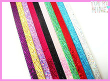 100pcs Mixed Color 8mm Wide 1meter Length Sequins PU Leather Strips Fit 8mm Slide Charms DIY Jewelry