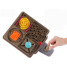 Beach 3D Castle Magic Maze Ball  Intellect Ball Rolling Ball Puzzle Game Brain Teaser Kids Learning Educational Toys Orbit Game