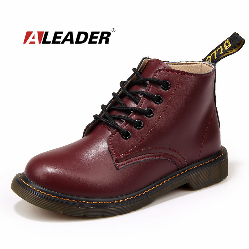Fashion 2015 Boots Women Pu Leather Ankle Martin Woman Boots Autumn Fall Short Boots Winter Shoes Botas zapatos hombre mujer<br><br>Aliexpress