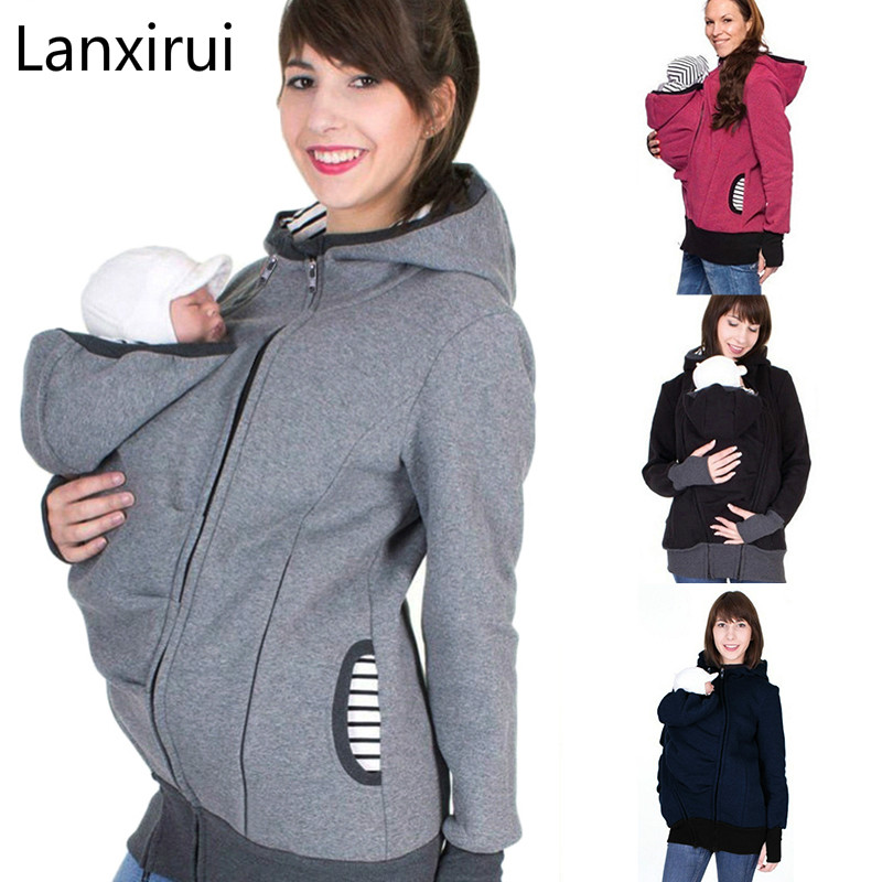 Ladies Zipper Maternity Clothes Clothing 3 in Babywearing Festive 1 Maternity Jacket Loose Long Sleeve Maternity Coat Spring Summer Autumn Jacket Hooded