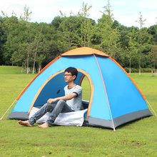 New Outdoor Lazy Tents Portable 3-4 Person Automatic Tent Fast Folding Waterproof Anti-UV Hand Throwing Tent Beach Camping Tent(China)