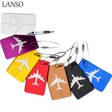 LANSO New Design Travel Accessories Aircraft Luggage Licensing Aluminum Boarding Girls Men Creative Luggage Card Luggage Tag