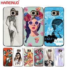 HAMEINUO The Girl With Wine Glass Design cell phone case cover for Samsung Galaxy S7 edge PLUS S8 S6 S5 S4 S3 MINI(China)