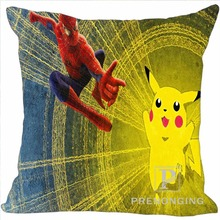 Custom Pillowcase Cover Pokemon Cute Pikachu Square Zipper Pillow Cover Print Pictures 20x20cm,35x35cm(one side) 180117#41