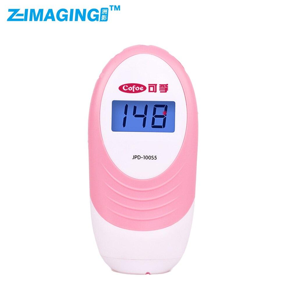 Mini Fetal Doppler Pocket Ultrasound Prenatal Fetal Detector Portable Baby Heart Rate Monitor Free shipping<br>