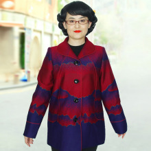 Plus-size 6XL 7XL  8XL  9XL  The coat is worn by an elderly woman in spring   PYZWT
