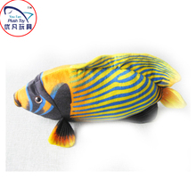 Angel fish plush toy mini stripe pattern multicolor soft toy fish 17'' length kids gift toy 2016