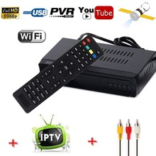HD AC3 Audio Optional With IPTV 1G Ram FTA DVB-S2 Digital Satellite Receiver Combo Youtube IKS Cccam Newcam Power vu USB Record