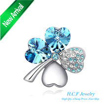 2016 New Christmas Gifts Fashion Jewelry Manufacturers Selling Clothing Accessories Sweet Clovers brooch Happiness Wholesale