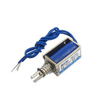 DC 24V 1A Open Frame Push Type Solenoid Electromagnet 0.08Kg Force(China)