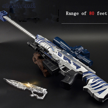 War Thunder CrystaWater Gun Sniper Rifle Gun Blaster Soft Bullet Gun Outdoors Live CS Game Toys For Children Christmas Gift
