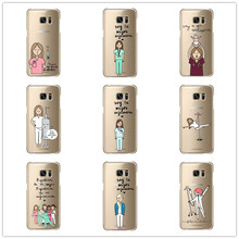 Fashion Spain Cute Cartoon Medicine Nurse  for Samsung Galaxy S3 Mini S6 Edge  S7Edge Note 2 3 4 5  Hard plast shell Phone Cover