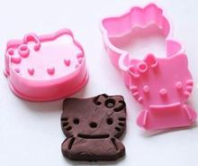 3 d cartoon Hello Kitty cake mold baking cookies mold DIY tools
