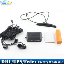 Free DHL Fedex 50pcs/lot LED Display 4 Parking Sensor Car Reverse Backup Radar System Reversing Kit(China)