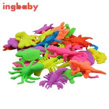 10pcs/set Foam Water Toy Swimming Pool Toy Water-absorbing Expanding Small Animal Toy Sponge Baby Mini Aquatic Creatures ingbaby