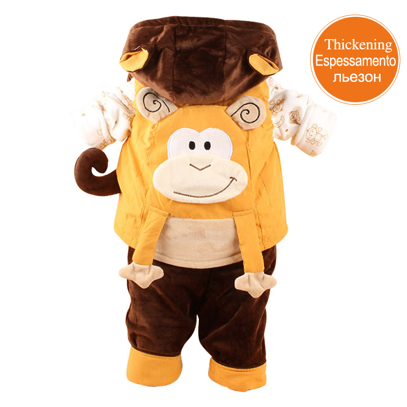 2017 New Imported Monkey Baby Clothes 3 piece Warm and comfortable Infant Winter Coat<br>