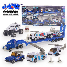 3 cars/lot 1:64 Alloy truck set Constraction Car DieCast Metal Mini truck Series engineer Vehicle Model Toy Children gifts