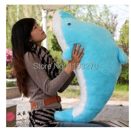 stuffed animal 100 cm plush dolphin toy soft doll  throw pillow gift  w3184<br>