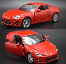 Candice guo alloy car scale model toyota 86 racing vehicle motor pull back baby collection Christmas present birthday gift 1pc(China)