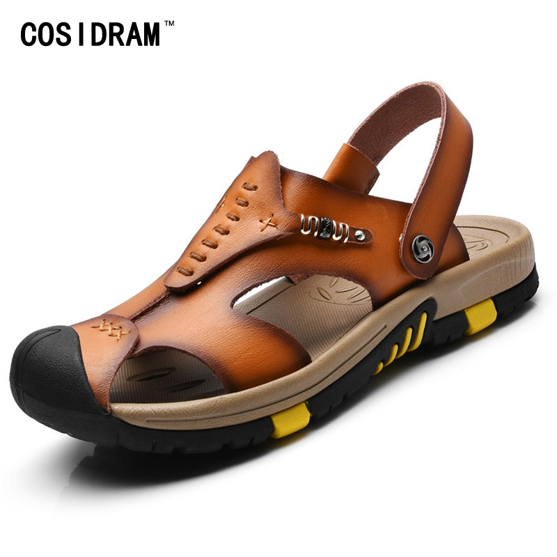 Brand Designer Split Leather Men Sandals New 2017 ...