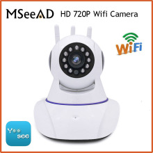 MSeeAD Mini CCTV WiFi Camera IP 720P Home Security Camera Wi-Fi P2P Two Way Audio Night Vision 3 Antennas Wireless Baby Monitor(China)