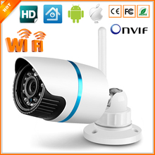 Wifi IP Camera Wireless Outdoor Waterproof Bullet Camera IP Wi-Fi 802.11b/g/n 150Mbps ONVIF HI3518 XMEYE 720P 1MP IR Cut Filter