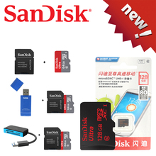 100% Original Sandisk Micro SD card Class10 TF card16gb 32gb 64gb 128gb 80Mb/s memory card for samrtphone and table PC