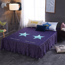 Bed Skirt 100% Cotton Textile Design Of Deep Blue Sky The Modern Style Of Comfortable Soft Bedding Set