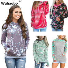 Wuhaobo 21 Style Good quality Winter Casual Hoodies Sweatshirt Hooded Sweatshirt Women Hoodies Fashion Lady Zipper Pullover Top(China)