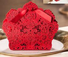 100pcs/lot free shipping  European style Hollow out  lace Wedding box Candy Box gift box bonbonniere wedding favour boxes