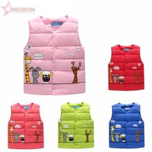 Janedream Girls Vest Children Outerwear Clothing Baby Girl Padded Vest Warm Winter Waistcoat Autumn Kids Girls Clothes #262891