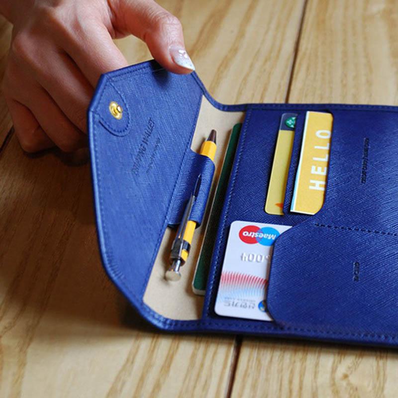 Reispaspoort Cover Opvouwbare Creditcardhouder Geld Portemonnee ID Multifunctionele Documenten Vlucht Bit Licentie Portemonnee Tas PC0045 (16)