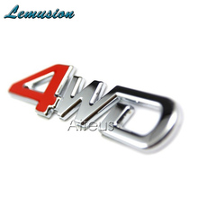 Car stickers 3D 4WD 4x4 Metal Stickers Car Sticker For kia rio k2 Sportage 3 2017 Cerato Sorento Volvo XC60 XC90 S60 S80 V70 S40(China)