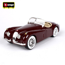 BBURAGO alloy car model Jaguar XK 120 simulation Metal model Collection Diecast Toys Gifts for children car decoration