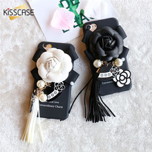 KISSCASE For iPhone 6 6s 7 Case Luxury Elegant Camellia Girly Tassel Hard PC Plastic Case For iPhone 6s 6 Plus 7 7 Plus Cases(China)