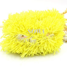 Free Shipping Hot Sales 1800pcs/Lot Artificial Light Yellow Glass Flower Stamen Pistil Cake Decoration Craft DIY