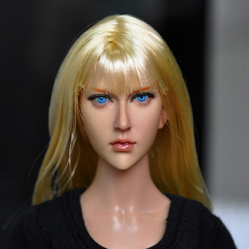 KUMIK 13-90 1/6 Scale female head Girl Long Hair 12 action figure doll accessories doll head carved not<br>