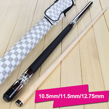 New Arrival Pool Cues Billiard 10.5mm/11.5mm/12.75mm Tips Pool Cue Case Set Chalks/Tips/Glove/Cloth Gifts China(China)