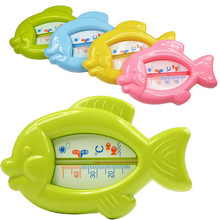 Plastic Bath Toy Infant Bath Temperature Tester Toy Baby Floating Fish Water Thermomete Toys gift(China)