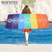 Mandala Beach Towel Tapestry Outdoor Picnic Blanket Bohemian Tassel Wink Gal Hippie Towels Beach Yoga Mat 150*75cm(China)