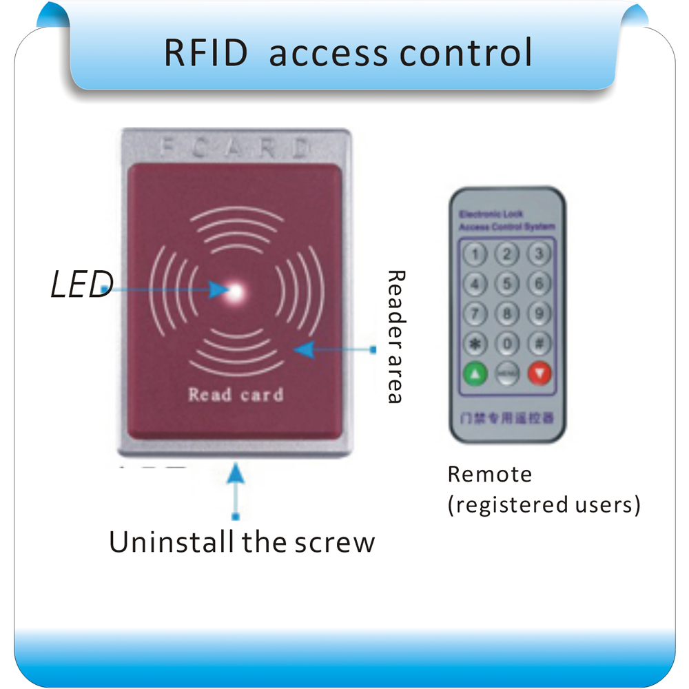 Free shipping Newest  RFID 125KHZ access controller Proximity Entry Door Lock Access Control System and 10 pcs ID card<br>